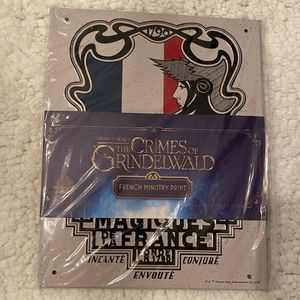 NWT Fantastic Beasts French Ministry Metal Print
